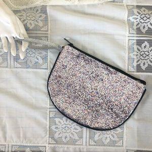 Handbags - Half round glittery zip pouch [used]